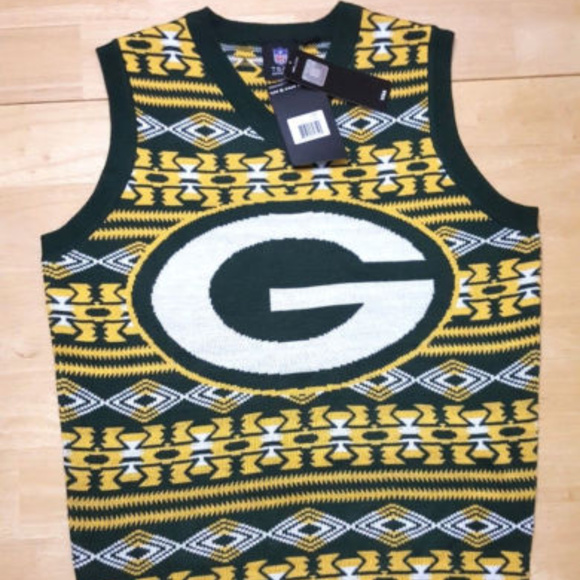 11ea24fb Green Bay Packers Pullover Sweater Vest Small NWTS NWT